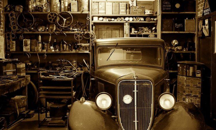 Auto Car Garage Auto Shop Vintage Vehicle Antique
