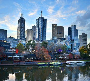 Melbourne City Skyline Australia Cityscape