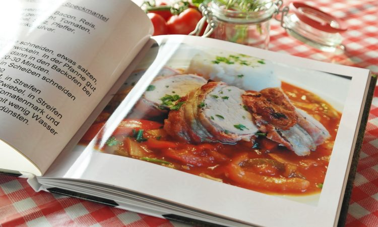 Cookbook Recipes Food Cook Book Paper Hand