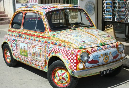 Auto Vehicle Painted Painting Colorful Color Car